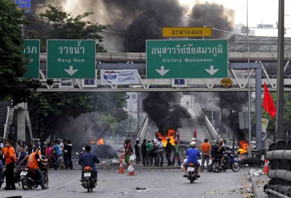 Disturbios en Bangkok
