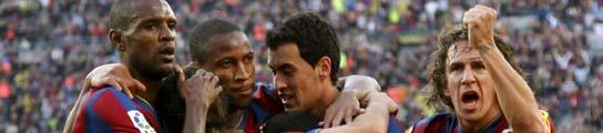 El Barça golea al Real Valladolid y se proclama campeón de la Liga 2009/2010  (Imagen: EFE)