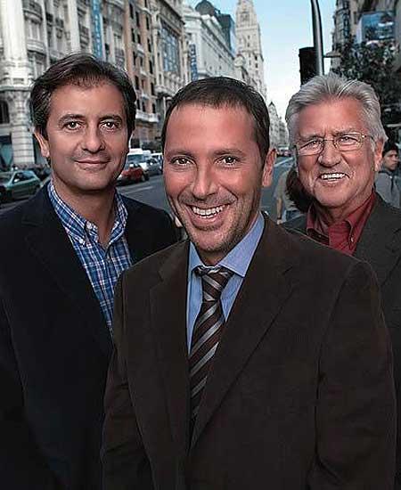 Manolo Lama, Paco Conzález y Pepe Domingo Castaño