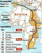 Nacho Medina se hace 15.000 kilómetros en vespa por la selección española 1084042