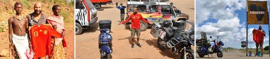 Nacho Medina se hace 15.000 kilómetros en vespa por la selección española 1084043