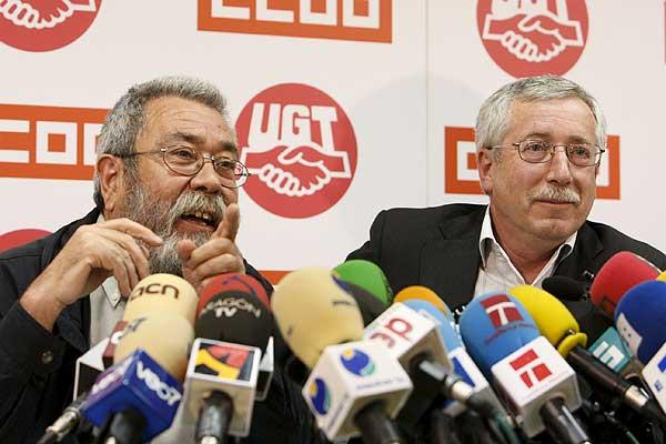 Anuncio de los sindicatos