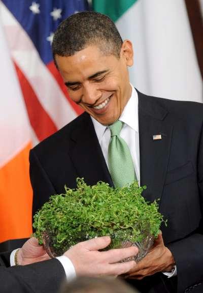 Obama y los tréboles