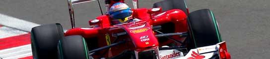 Fernando Alonso en su Ferrari