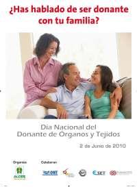 ALCER RIOJA pide que la gente hable con sus familiares para dejar  claro si se quiere ser donante o no
