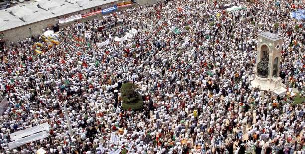 Manifestación en Estambul contra Israel