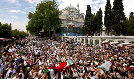 Entierro de los cooperantes en Estambul