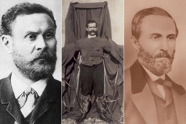 Otto Lilienthal, Franz Reichelt y William Bullock