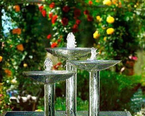 Fuentes en el jardín