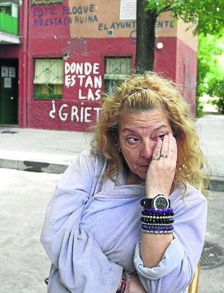 Amalia, una de las afectadas por los desalojos