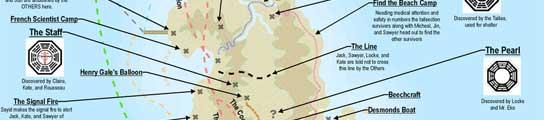 Mapa de la isla de 'Perdidos'
