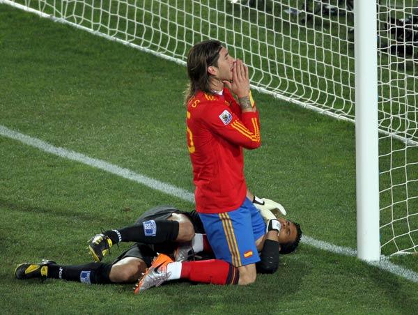 Sergio Ramos ante Honduras