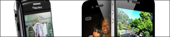 Blackberry  y iPhone