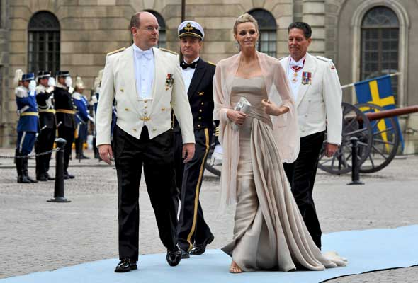 Príncipe Alberto y Charlene Wittstock