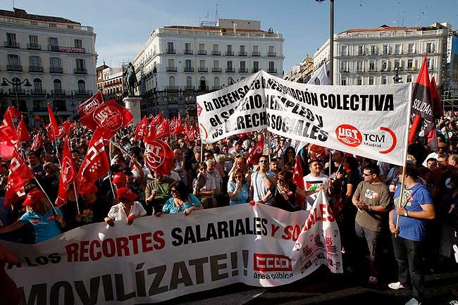 Manifestación de Metro