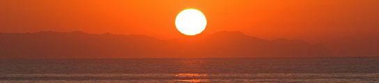 Puesta de sol en Almería