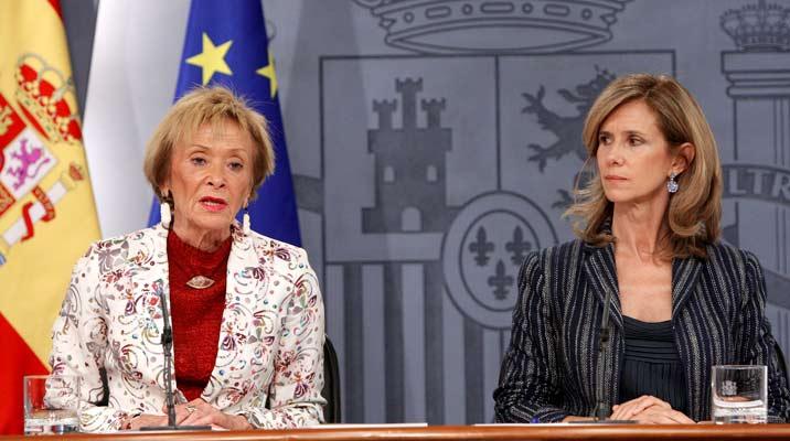 De la Vega, tras el Consejo de Ministros.