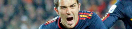 David Villa con España