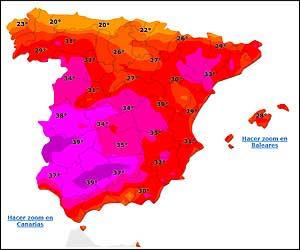 <p>Mapa de temperaturas  05/07/2010</p>