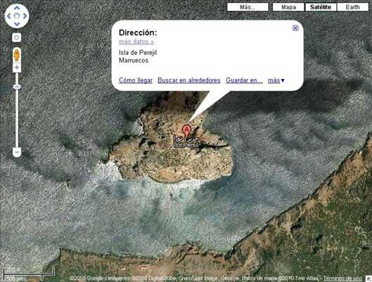 La Isla de Perejil dejará de ser posesión marroquí en Google Maps