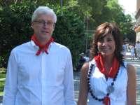 Torres acompaña al presidente de la Conferencia de Asambleas Legislativas Regionales de Europa en su visita a Pamplona