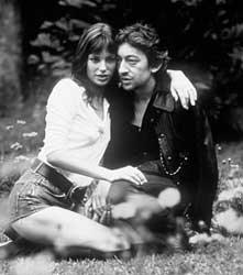 <p>Serge Gainsbourg y Jane Birkin</p>