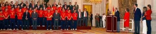 Los reyes del fútbol, en palacio