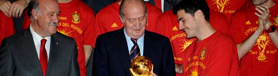 Del Bosque, el Rey y Casillas