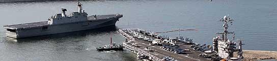 Comienzan las maniobras militares que pretenden disuadir a Corea del norte  (Imagen: EFE)