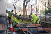 Las obras de construcción de la línea 1 del tranvía obligan a realizar nuevos cortes de calles este lunes