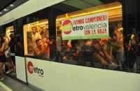Metrovalencia aumenta un 3,63% el número de viajeros y el TRAM casi un 7% en el primer semestre del año