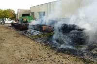 Detenidos tres hombres por provocar un incendio intencionadamente en una carpintería de Peralta