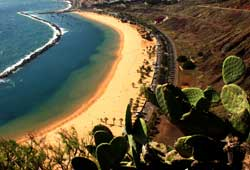 Una playa de la isla de Tenerife.