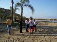La prohibición de baño continuará hasta el próximo lunes en las playas de Águilas afectadas por el vertido