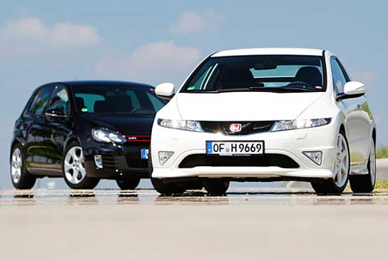 Honda Civic Type R vs VW Golf GTI