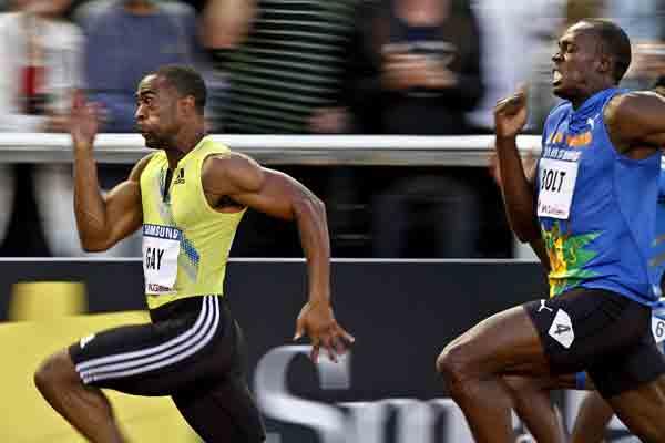 Usain Bolt, derrotado por Tyson Gay