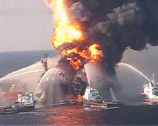 Vertido de petroleo en el Golfo de México