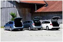 Honda Accord Tourer vs Mazda 6 Wagon vs Toyota Avensis Cross Sport