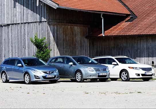 Honda, Mazda y Toyota