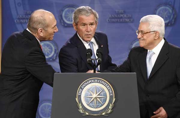 Bush, Abás y Olmert