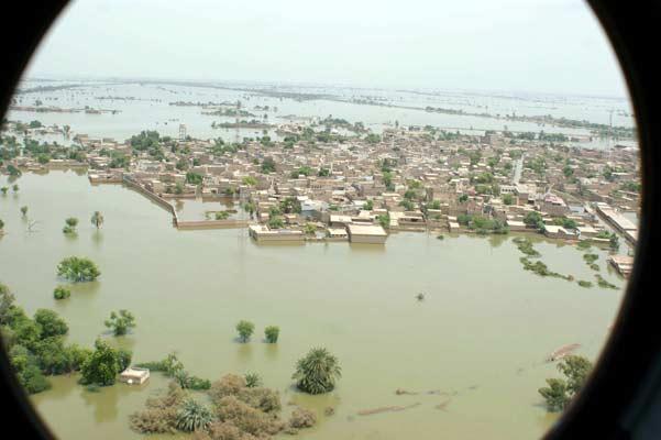 Zonas inundadas en Pakistán