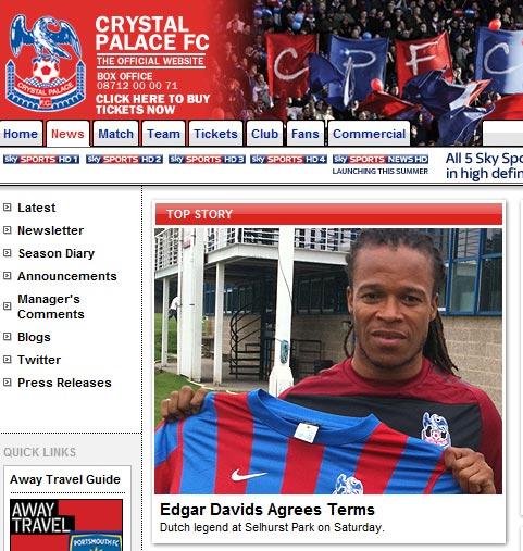 Edgar Davids vuelve al fútbol
