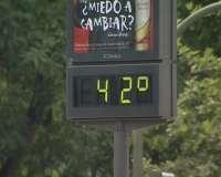 Murcia continuará hasta este martes en alerta naranja por las elevadas temperaturas, que pueden alcanzar los 39º