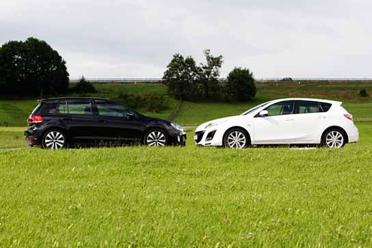 VW Golf GTD vs Mazda 3 2.2 l MZR-CD