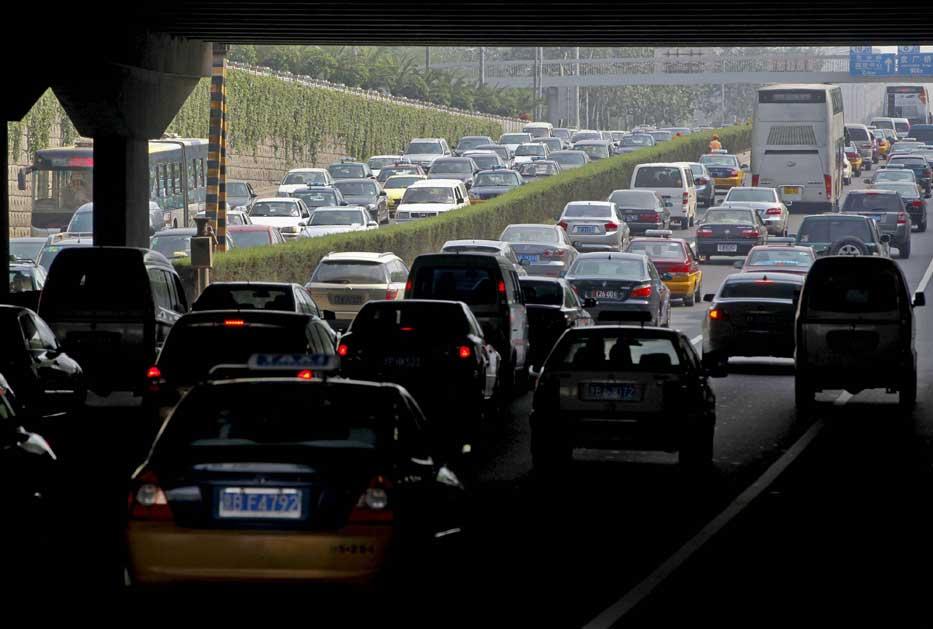 Atasco en Beijing