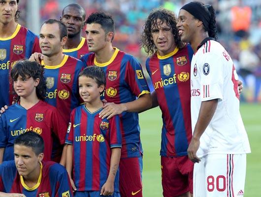 El FC Barcelona gana el Trofeo Gamper ante el Milan en la