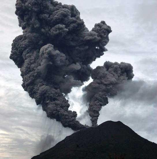 Volcán indonesio