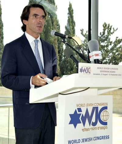 José María Aznar en Jerusalén.