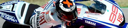 Dani Pedrosa y Jorge Lorenzo, los más rápidos en casa de Valentino Rossi