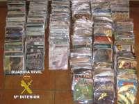 Detenido en Castro Urdiales con más de 800 discos y películas falsificados